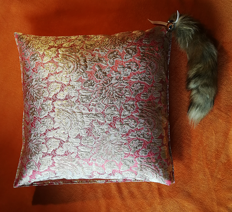 beautiful pillow with a surprise