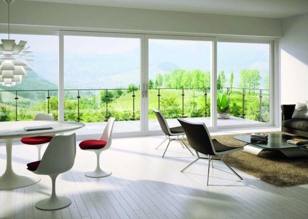 beautiful views through large windows