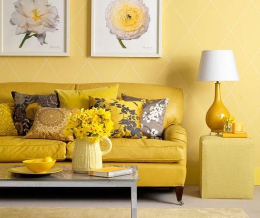 Yellow in interiors