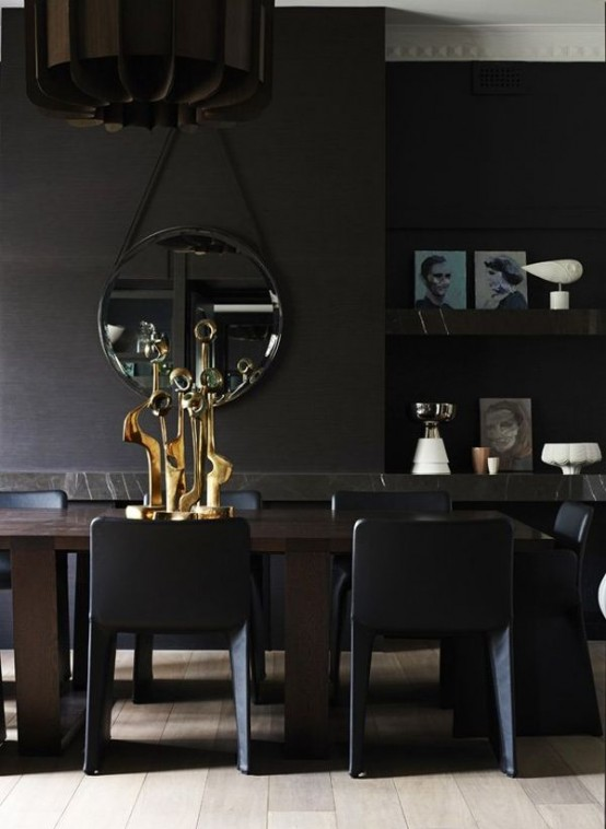 dining room / living room in black
