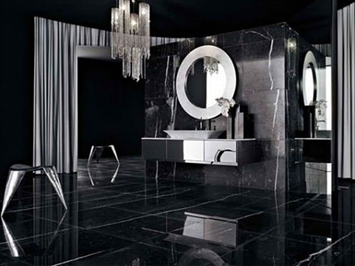 black modern bathroom