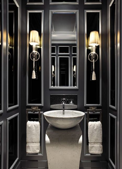 classic bathroom in black