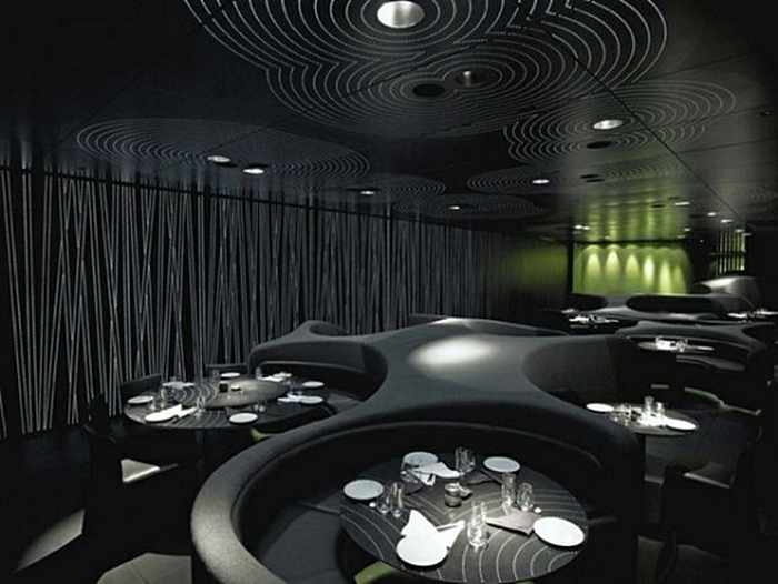original black public interior - restaurant